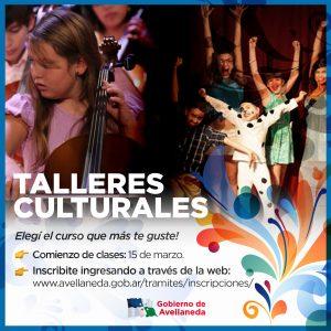 Avellaneda inscribe on line a los Talleres del Centro Cultural Municipal