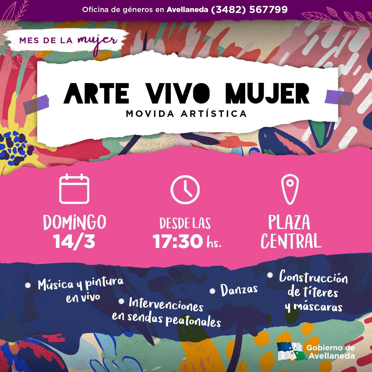 Mes de la Mujer: sumate a la movida cultural en la Plaza Central de Avellaneda