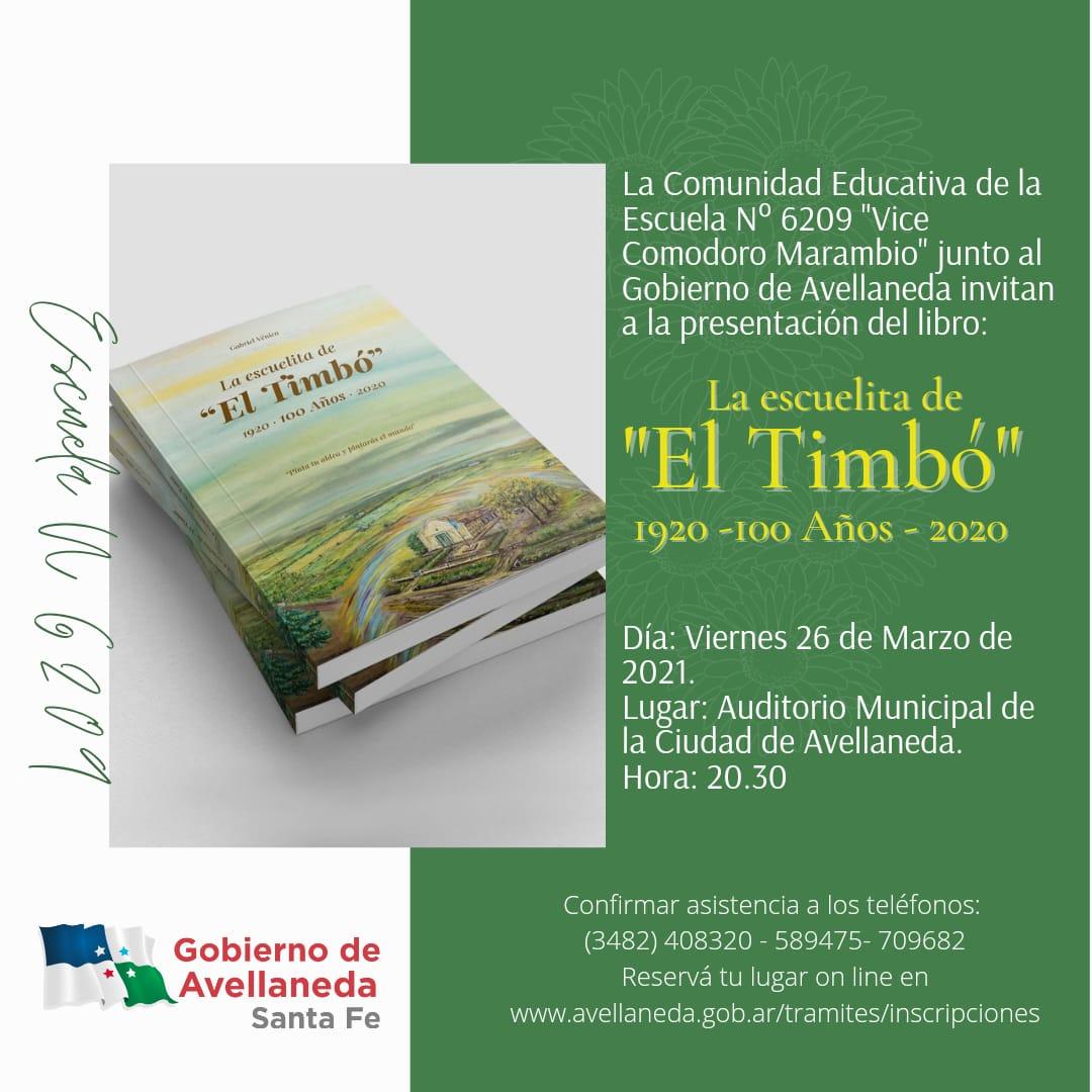 """El Ciclo #Leyendo (Nos) presenta """"La Escuela del Timbó"""""""