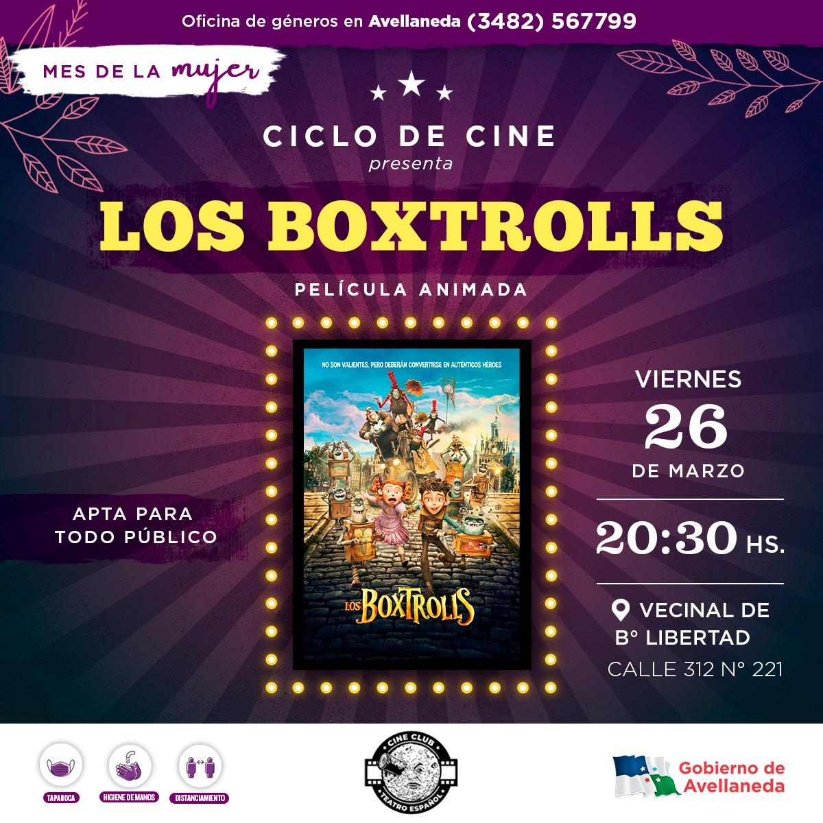 """El Ciclo de cine del Mes de la Mujer presenta """"Los Boxtrolls"""""""