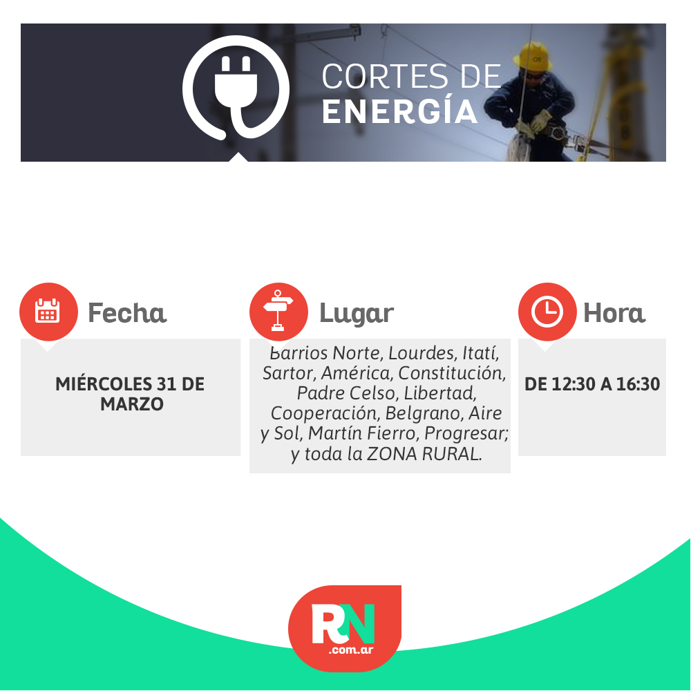 Corte de energía para algunos barrios de la ciudad de Avellaneda
