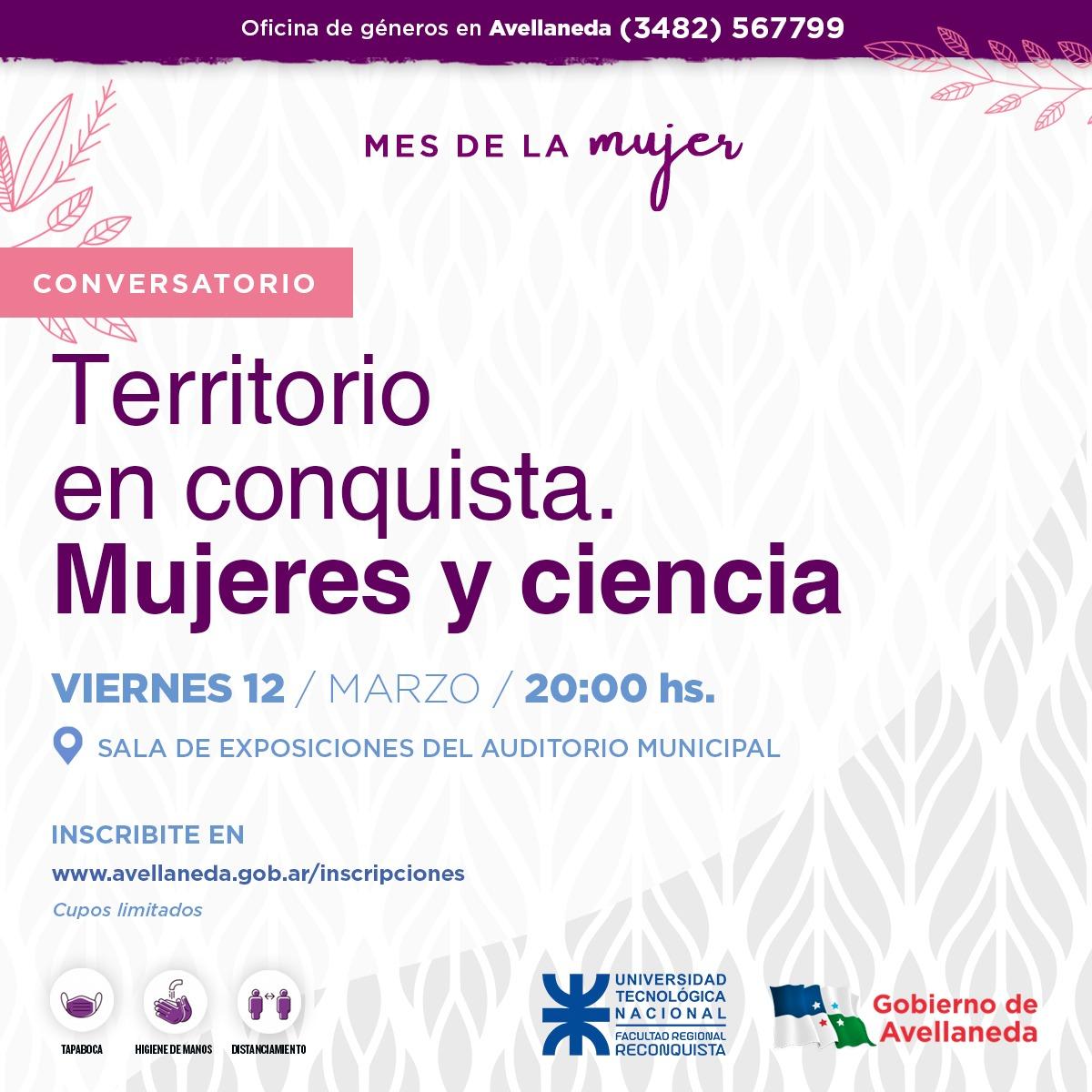 """Mes de la Mujer: Conversatorio """"Territorio en Conquista"""". Mujer y Ciencia"""