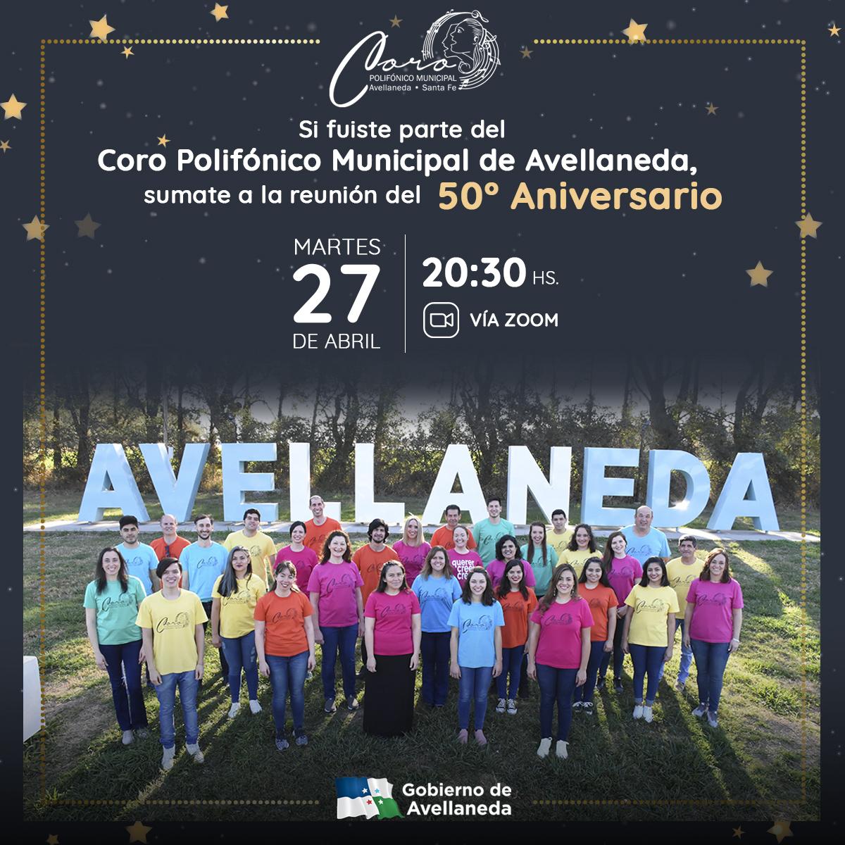 Coro Polifónico de Avellaneda: encuentro virtual por la celebración de su 50° Aniversario