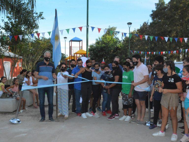 Santa Ana: inauguraron la plaza del lugar y la remodelación del Salón de Usos Múltiples