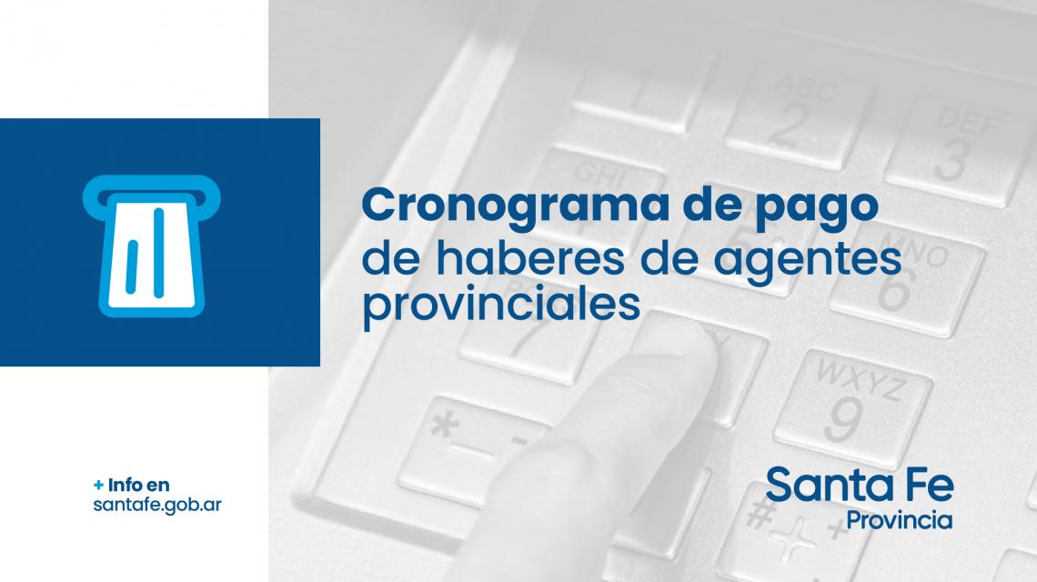 La provincia informa el cronograma de pago de sueldos correspondientes al mes de mayo