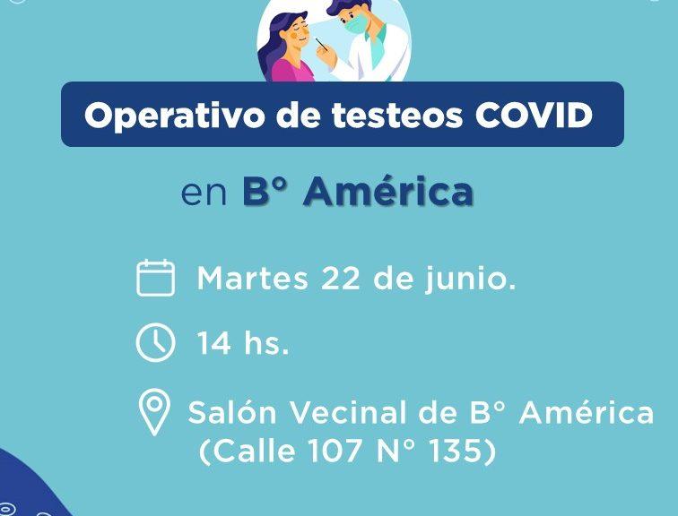 COVID: se hará un nuevo operativo de testeos en Bº América de Avellaneda