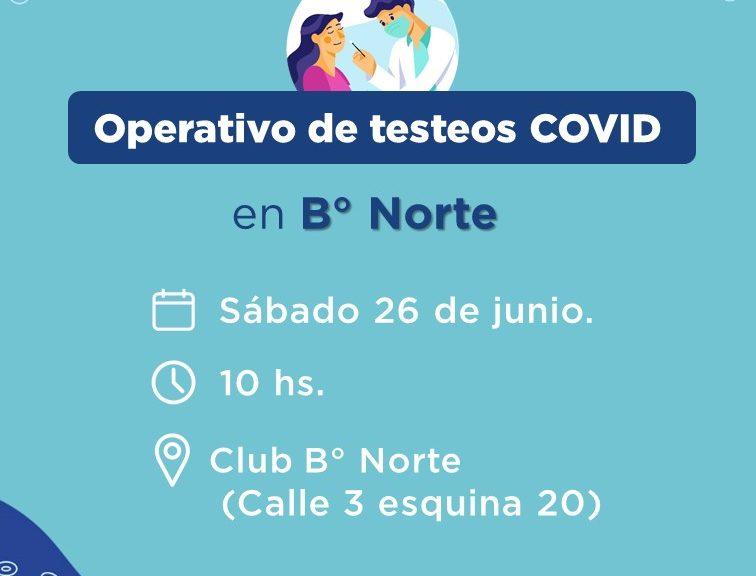 COVID: nuevo operativo de testeos en B° Norte de Avellaneda