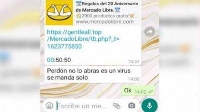 Alertan sobre el falso mensaje de WhatsApp que se hace pasar por ofertas de una reconocida empresa