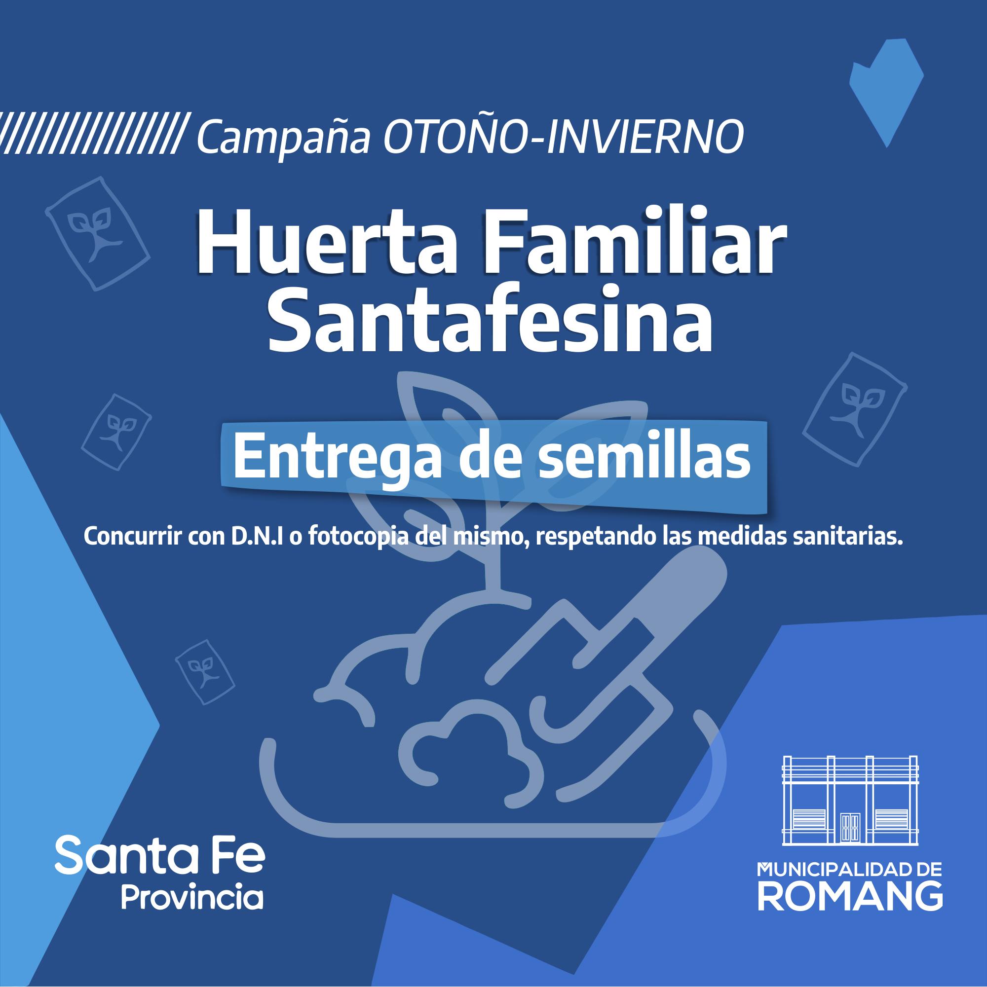 Entrega de semillas del Programa Huerta Familiar Santafesina