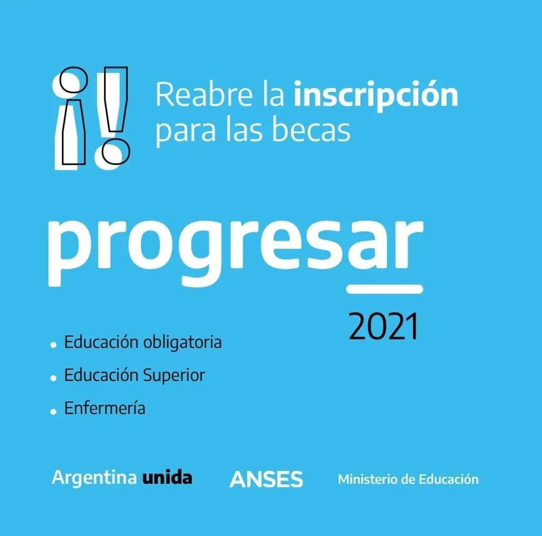 Malabrigo: segunda inscripción Becas Progresar 2021