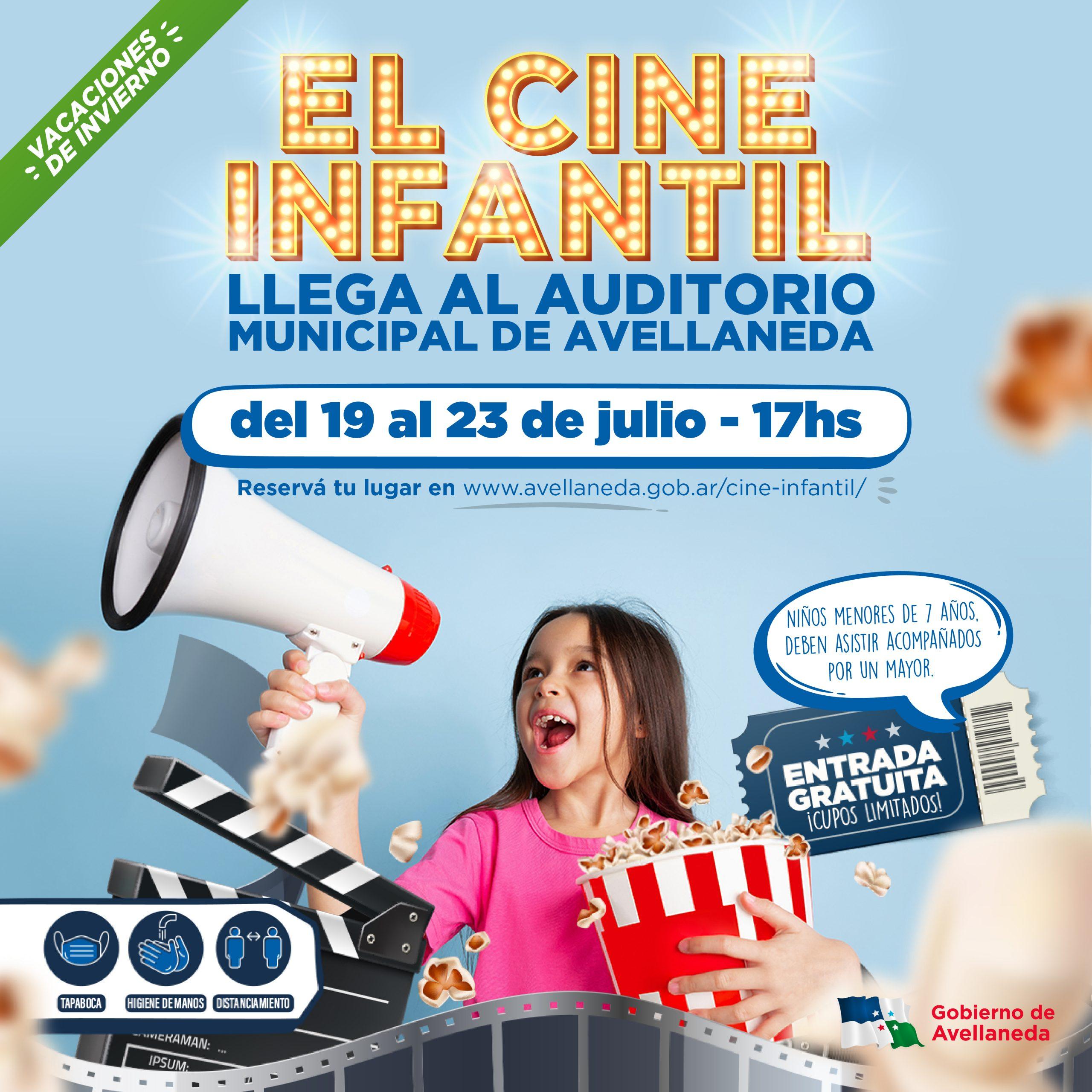 Hoy arranca el cine infantil en Avellaneda