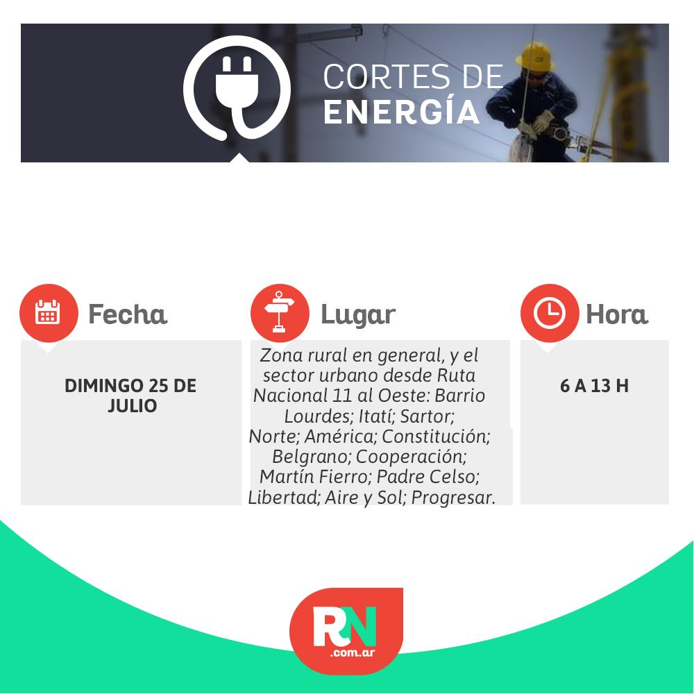 Corte energía para el domingo en algunos barrios de Avellaneda