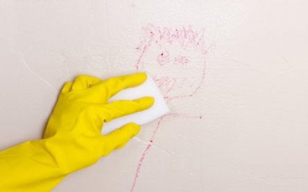 Cómo limpiar las manchas de la pared sin dañar la pintura