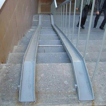 ¿Escaleras para carritos?